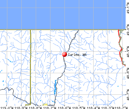 Curlew, WA map