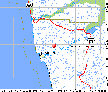 Quinault Reservation, WA map