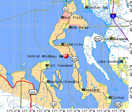 Central Whidbey, WA map