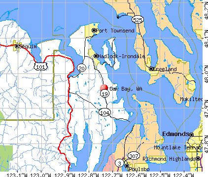 Oak Bay, WA map