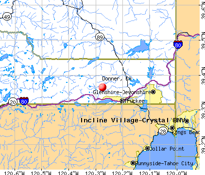 Donner, CA map