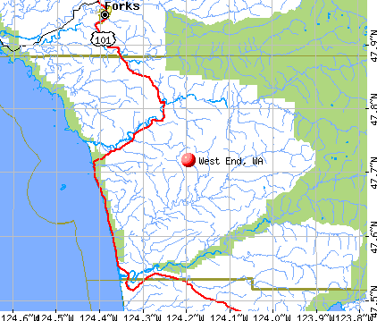 West End, WA map
