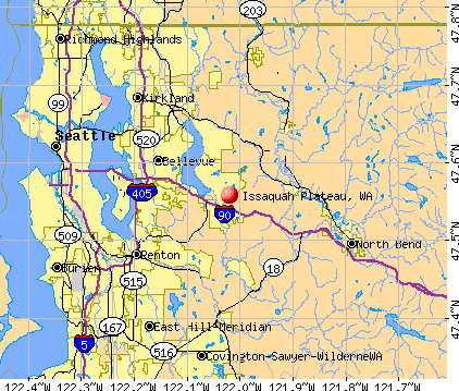 Issaquah Plateau, WA map