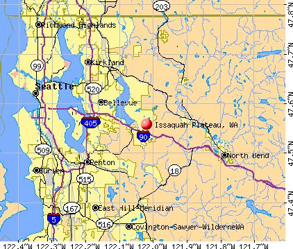 Issaquah Plateau, WA map