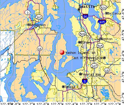 Vashon Island, WA map