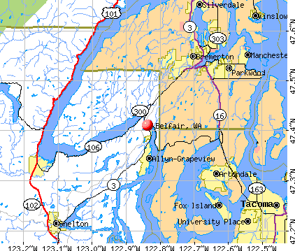 Belfair, WA map