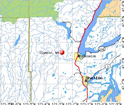 Olympic, WA map