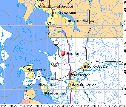 Bow, WA map