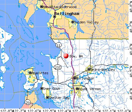 Bow, WA map