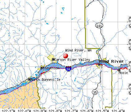 Wind River, WA map