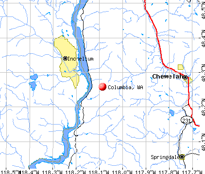 Columbia, WA map