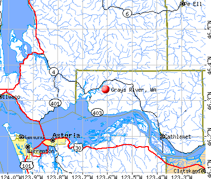 Grays River, WA map