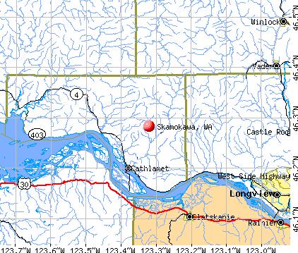 Skamokawa, WA map