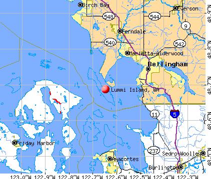 Lummi Island, WA map