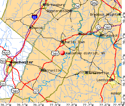 Kabletown district, WV map