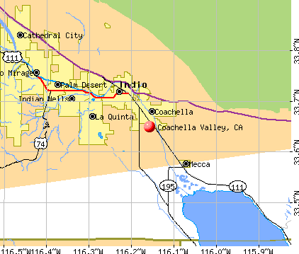 Coachella Valley, CA map