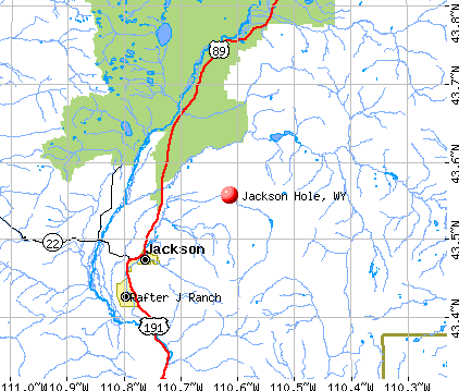 Jackson Hole, WY map