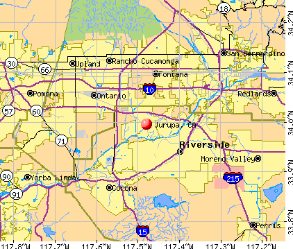 Jurupa, CA map