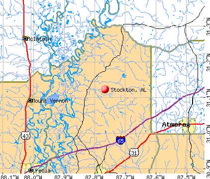 Stockton, AL map