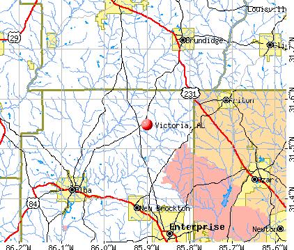 Victoria, AL map