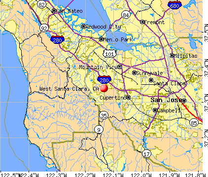 West Santa Clara, CA map
