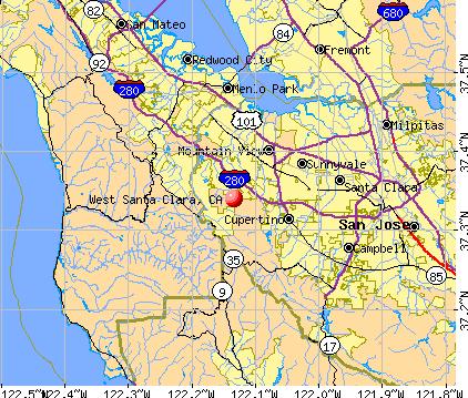 West Santa Clara, CA map