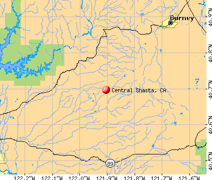 Central Shasta, CA map