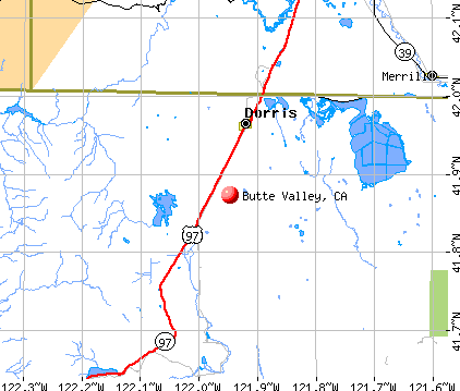 Butte Valley, CA map