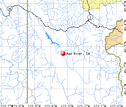 Mad River, CA map