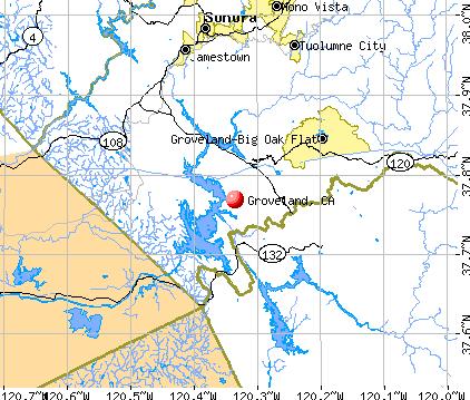 Groveland, CA map