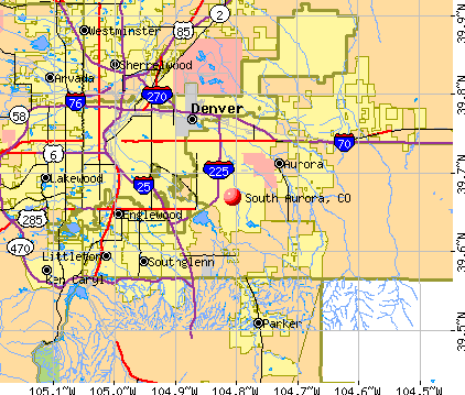 South Aurora, CO map