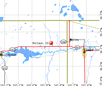 McClave, CO map
