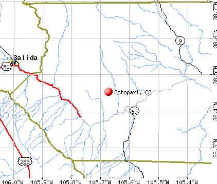 Cotopaxi, CO map