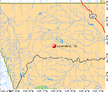 Livermore, CO map