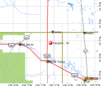 Sargent, CO map