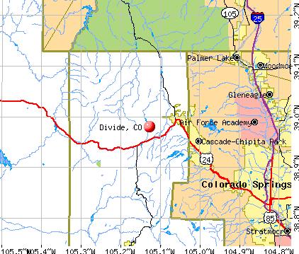 Divide, CO map