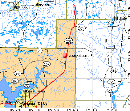 Youngstown, FL map