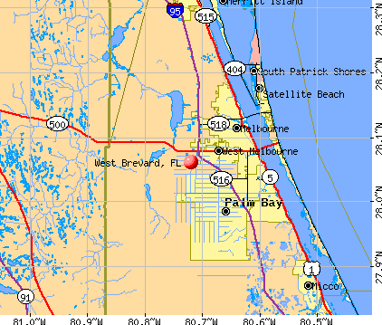 West Brevard, FL map
