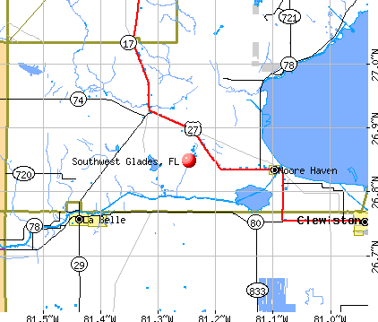 Southwest Glades, FL map