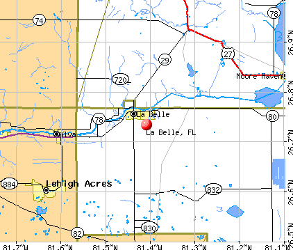 La Belle, FL map