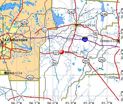 Wacissa, FL map