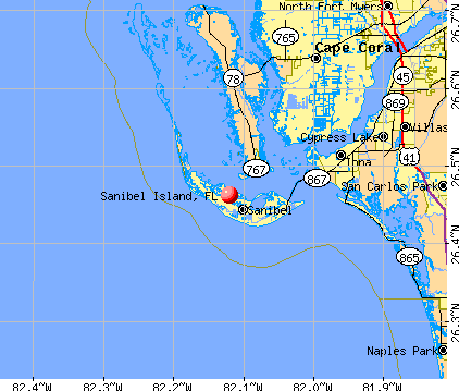 Sanibel Island, FL map