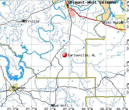 Carlowville, AL map