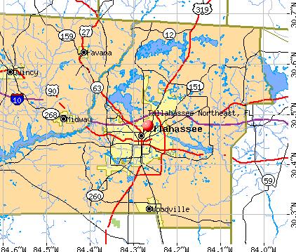 Northeast Florida Map.Tallahassee Northeast Florida Fl Profile Population Maps Real