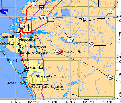 Myakka, FL map