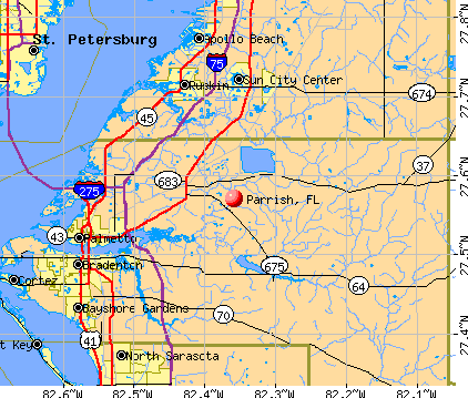 Parrish, FL map