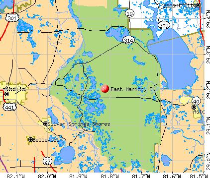 East Marion, FL map