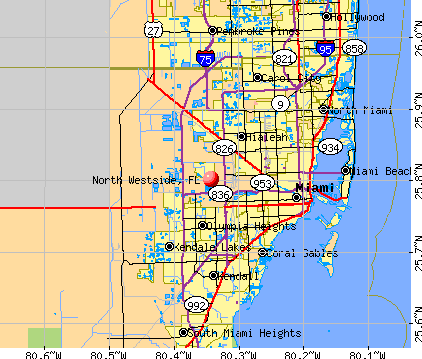 North Westside, FL map