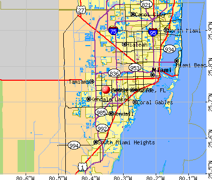 South Westside, FL map