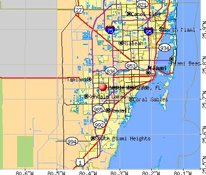 South Westside, FL map